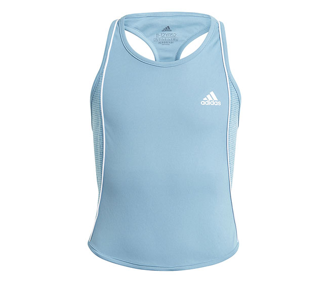 adidas Girls Pop Up Tank (Blue)